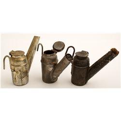 Three Mining Oil Lamps incl. Dunlap