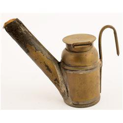 C. George Brass Crown Oil Wick Lamp