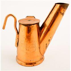 Grier Bros Copper Oil Wick Lamp