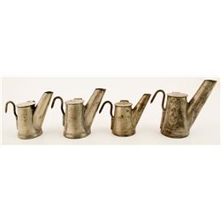 Four Different Grier Bros. Teapot Mining Lamps
