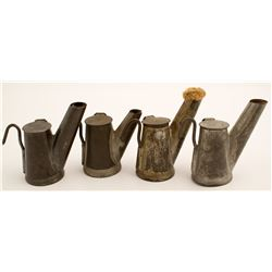 Four Grier Bros. Small Teapot Lamps