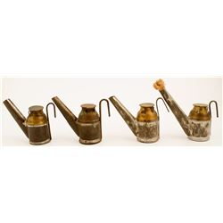 4 Alex Hunt Oil Wick Lamps