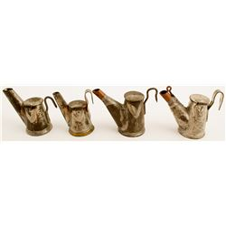 4 Different Husson Oil Wick Lamps