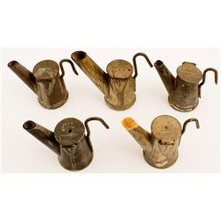 5 Fred Zais Oil Wick Lamps