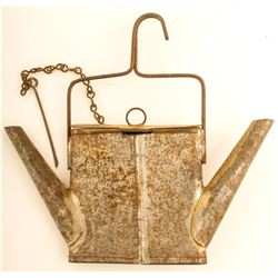 Unusual Hanging Tin with Two Compartments