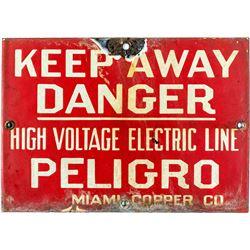 Miami Copper Company Mining Sign