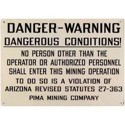 Pima Mining Company Sign