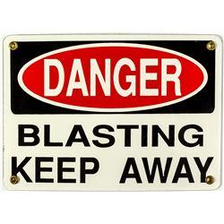 DANGER Blasting Mining Sign