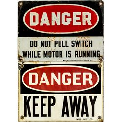 Two DANGER Mining Signs