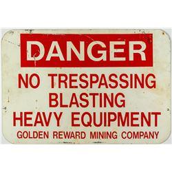 Golden Reward Mining Company Sign (near Lead, South Dakota)