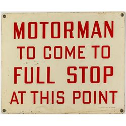 Motorman Mining Sign