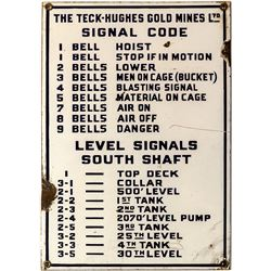 Teck-Hughes Gold Mines Signal Sign