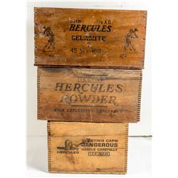 Three Different Hercules Explosives Boxes