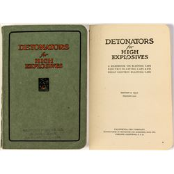 Western Powder Co: Detonators for High Explosives Booklet