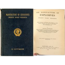 """Manufacture of Explosives"" Book (1909)"