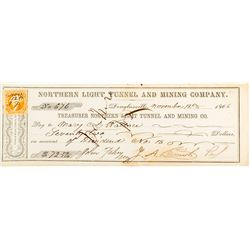 Northern Light Tunnel and Mining Company Check (Douglasville, CA)