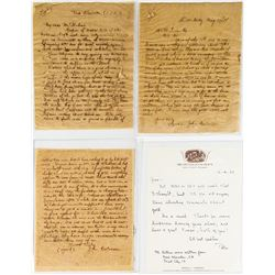 Interesting 130 Year-old Mining Letters with note from Peter Bancroft