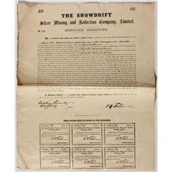Snowdrift Silver Mining and Reduction Company Stock Certificate