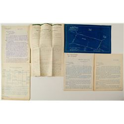 Badger State Lode Papers, Letters, Map and Adjacent Eagle Lode Patents