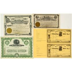 Austin Area Mining Stock Certificates
