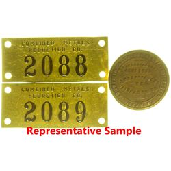 Mining Seal Plate and Machine Tags