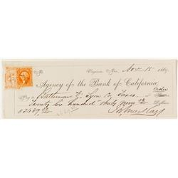 Mackay Check for Tax Payments on Lyon County Mines & Mills