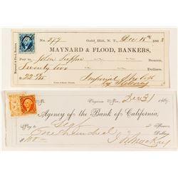 Two Good Comstock Checks incl. Mackay Autograph