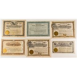 Nice Nevada Mining Stock Certificate Group