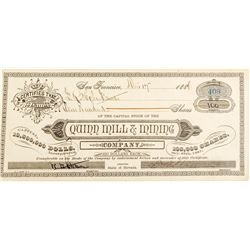 Rare Quinn Mill & Mining Company of Nevada