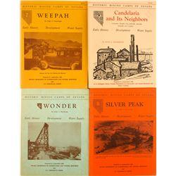 4 Hugh Shamberger Nevada Mining Camps Books