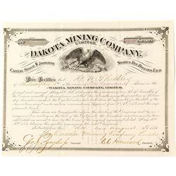 Dakota Mining Company Limited Stock Certificate