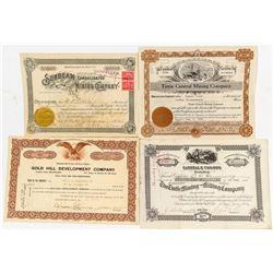 Another Four Tintic, Utah Mining Stock Certificates