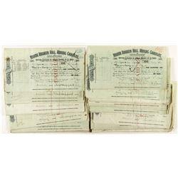 North Broken Hill Mining Company Stock Certificates (80) 1908-1910