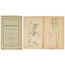 1863 Report on St. Margaret's Copper Mine w/ map (Charles T. Jackson & R. Bennett)