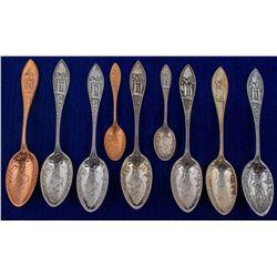 Nine Same Design Mining Spoons