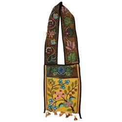 Chippewa Indian Beaded Bandolier Bag