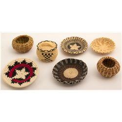 Seven Miniature Baskets