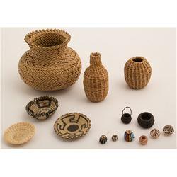 Tiny Baskets and Pottery