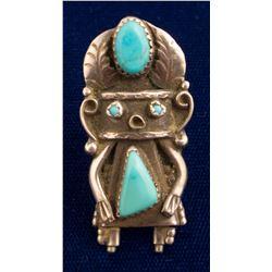 Sterling Kachina Ring, Orville Manygoats