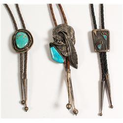 Three Navajo Bolo Ties