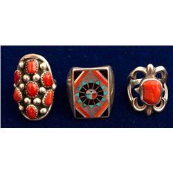 Three Native American Rings