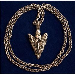 Vintage Arrowhead Pendant Necklace