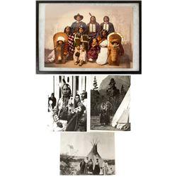 Ute Chief Sevara and Family, W. H. Jackson Photograph, c.1900