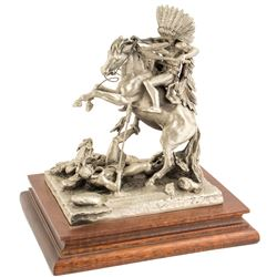 Counting Coup, Pewter Sculpture