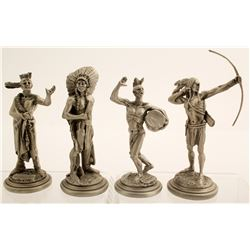 Four Pewter Sculptures by Don Polland