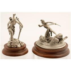 Two Pewter Sculptures by Don Polland