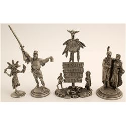 3 Polland Sculptures and 1 Other
