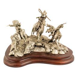 War Party, Pewter sculpture