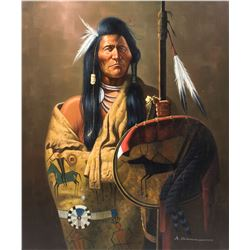 Portrait of Native American by Sutherlan