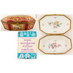 "Napoleon I Sevres Porcelain ""Casket"" Box"
